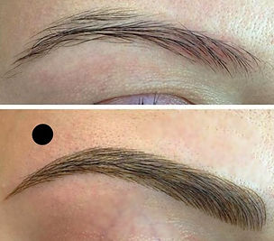 Microblading and Shading Eyebrows 3D
