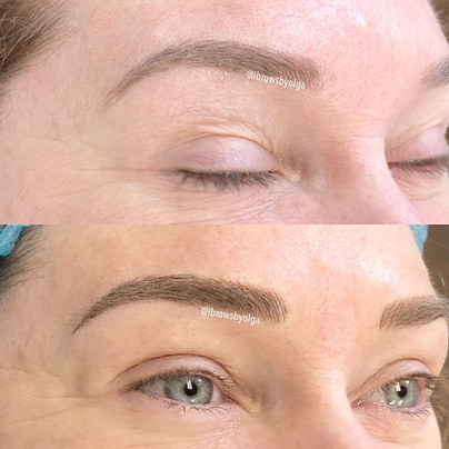 Top picture healed eyebrow , bottom picture after touch up! Scroll left to see before!!_._Permanent Makeup Ibrows by Olga.jpg