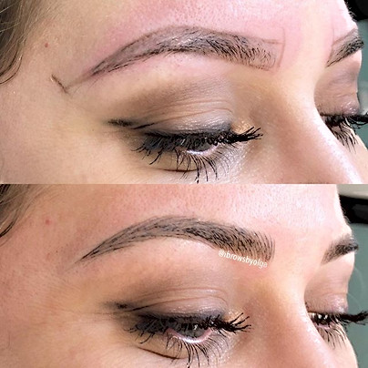 My gorgeous client came for the yearly touch up!!! We love these eyebrows more and more every time !!!! Thank you  Alexandra for being so lo