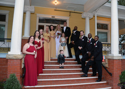 Wedding Party on Front porch