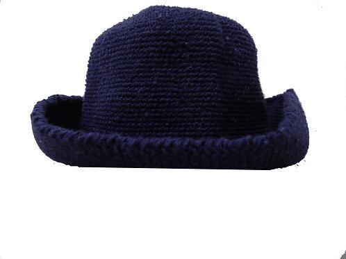 Chapéu Azul em Crochê