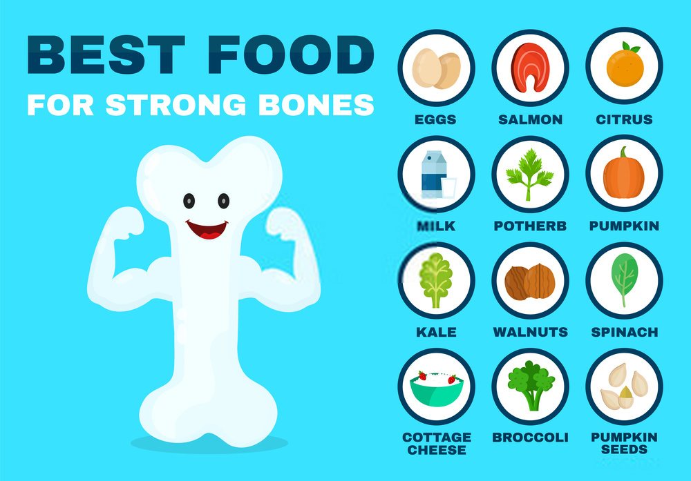 Top 7 Foods that Will Make Your Bones Stronger by Enriching Your Body With Calcium & Vitamin D