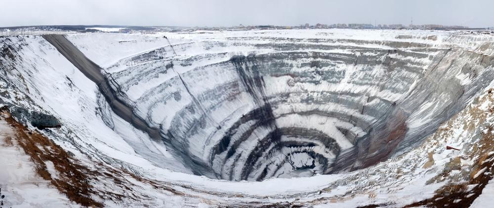 mirny diamond, mirny hole, mirny eastern siberia