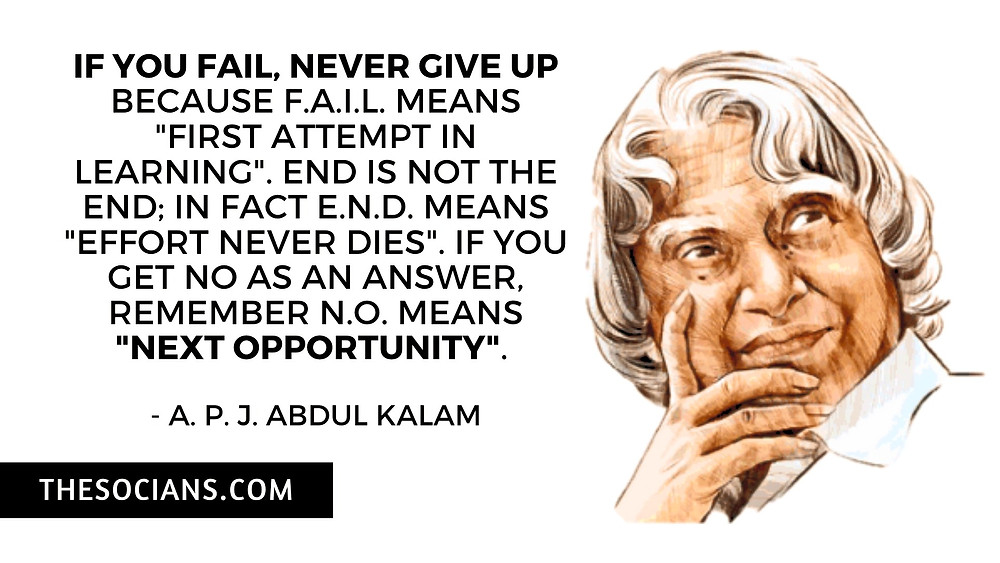 A. P. J. Abdul Kalam: Best 20 Quotes For You