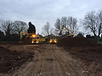 our civil engineering machines on a site in the UK
