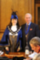 Bailiff Joanne Slade and Lord of the Man