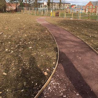 Self Binding Gravel Path