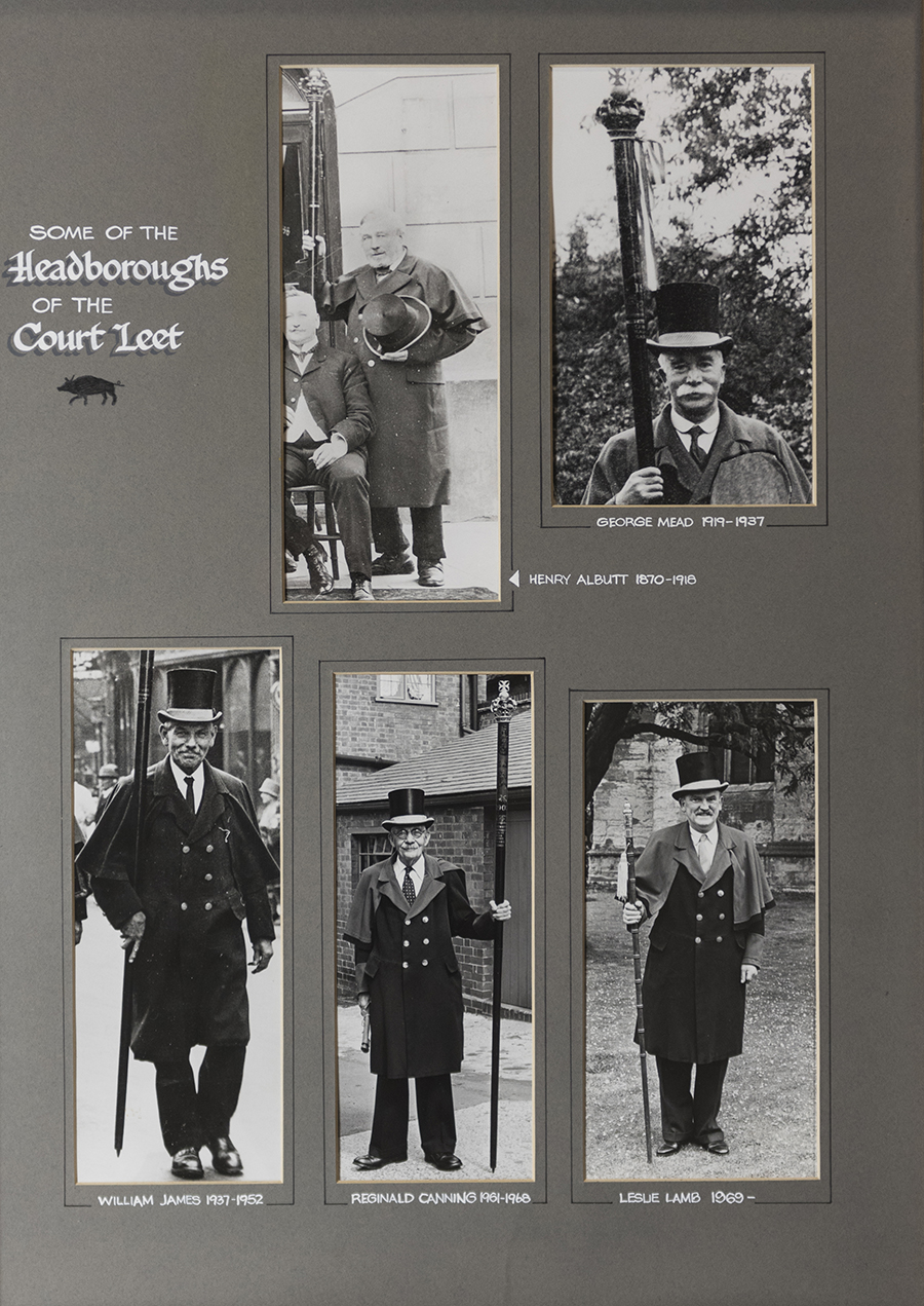 Headboroughs of the Court Leet