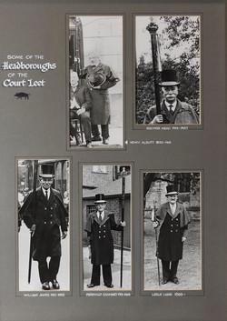 Headboroughs of the Court Leet