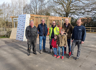 Thompson & Parkes Donate Building Materials to Help Local School Project