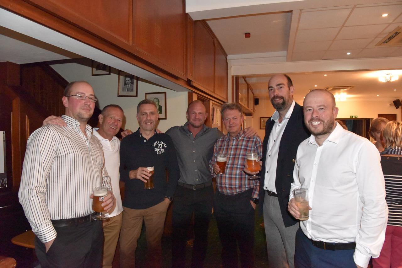 The Lads Enjoying a Pint