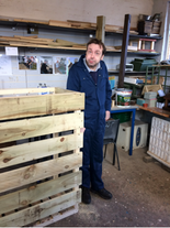 Martin is proud of the contribution he has made towards making a log store for a customer