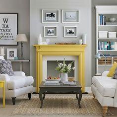 caminetto giallo