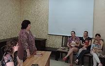 """Катернюк З.В. проводит беседу в Центре """"Радуга"""""""