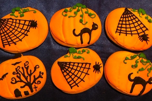 Jack o Lantern Silhouette Cookies