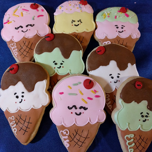 Assorted Ice Cream Birthday Cookies