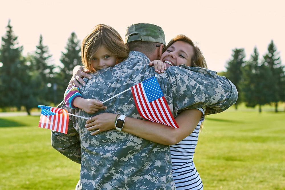 family of army men in usa