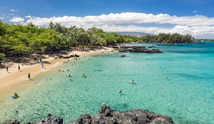 Waialea Bay is a short drive from the home