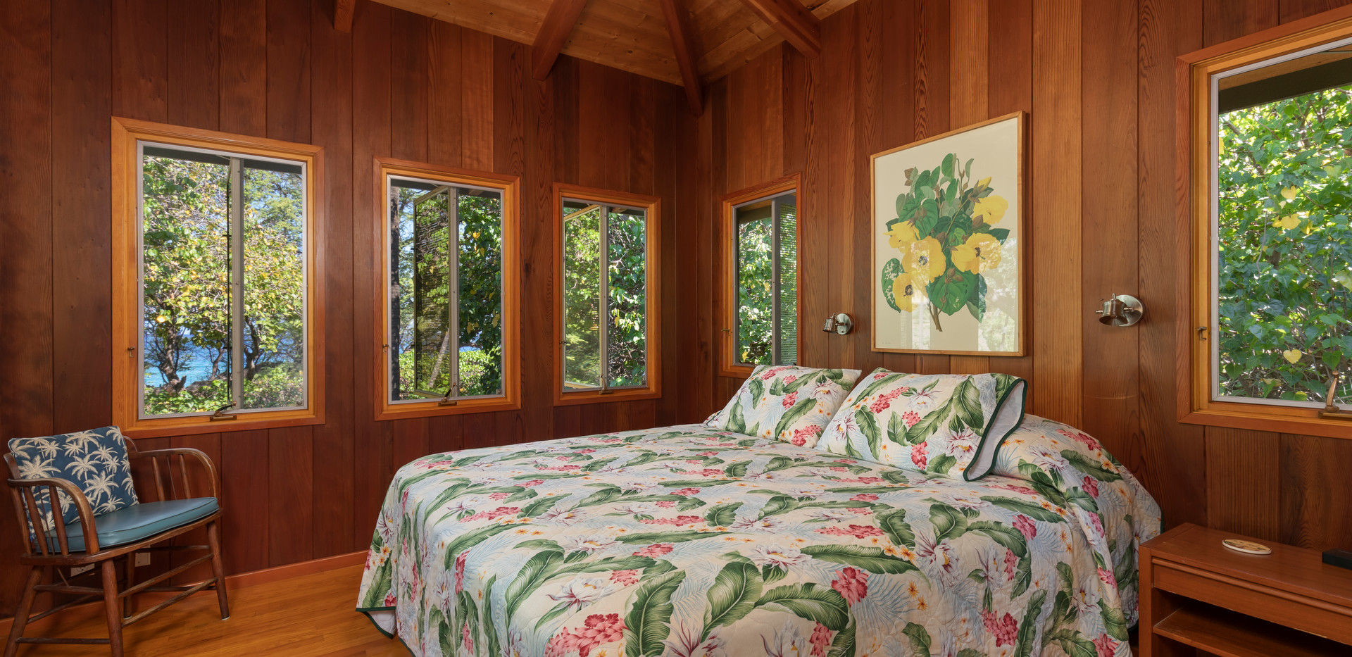 Master Bedroom with a King bed and peeks of the ocean