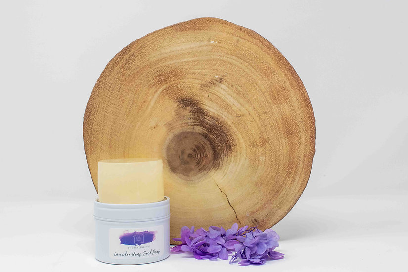 Lavender and Hemp Natural Soap in a Tin from The Healing Hut