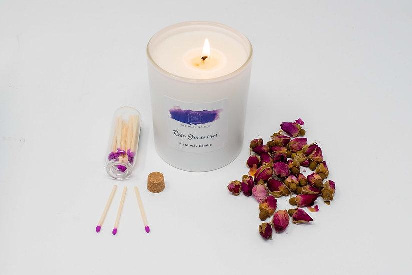 Rose Geranium: Large Candle