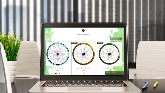 Mowheel e-commerce Wix Website Design by Bee More Design