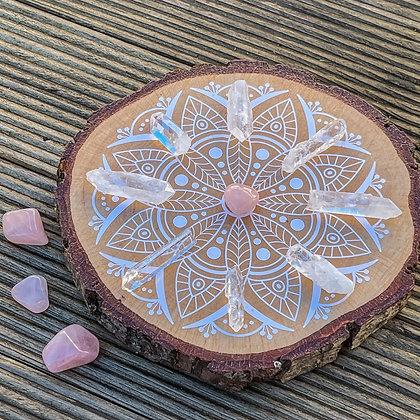 Crystal Grid: Rose Quartz