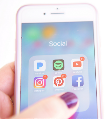 Social Media Icons on Phone from Bee More Design