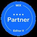 Wix Partner Logo for Bee More Design