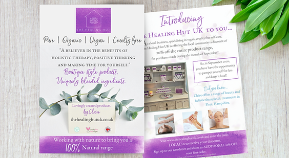 The Healing Hut Flyer Design by Bee More Design