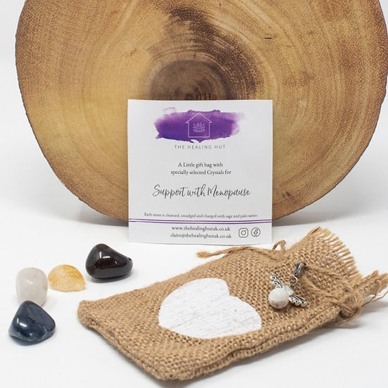 Support with Menopause: Crystal Bag