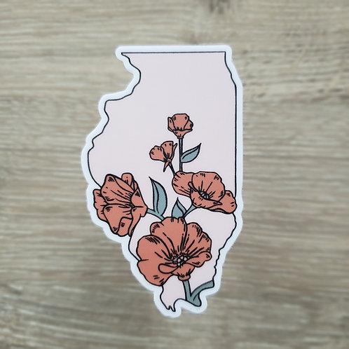 Illinois Flower Sticker
