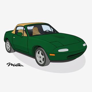 Miata Car Illustration