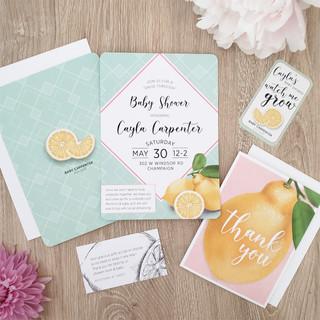 Lemon Baby Shower Invitation