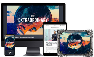 A Printable Digital Certificate of Completion of The Be Extraordinar Journey by Vishen Lakhiani