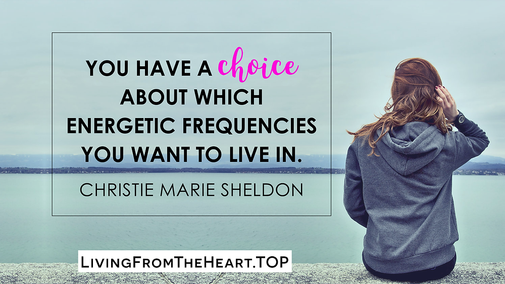 You Have A Choice About Which Energetic Frequencies You Want To Live In._Wisdom That Raises Your Vibrations & Inspires You to Allow More Abundance in Your Life by Christie Marie Sheldon_The Unlimited Abundance Home Training Program Review_The Love or Above Spiritual Toolkit Home Program Review