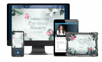 A Printable Digital Certificate of Completion of The Conscious Parenting Mastery Journey by Dr. Shefali