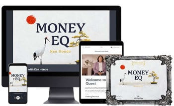 A Printable Digital Certificate of Completion of The Money EQ Journey by Ken Honda