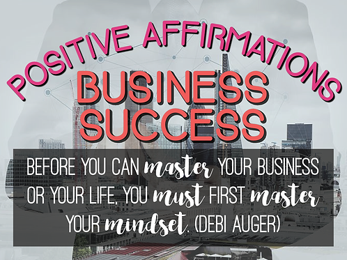 business affirmations workbook