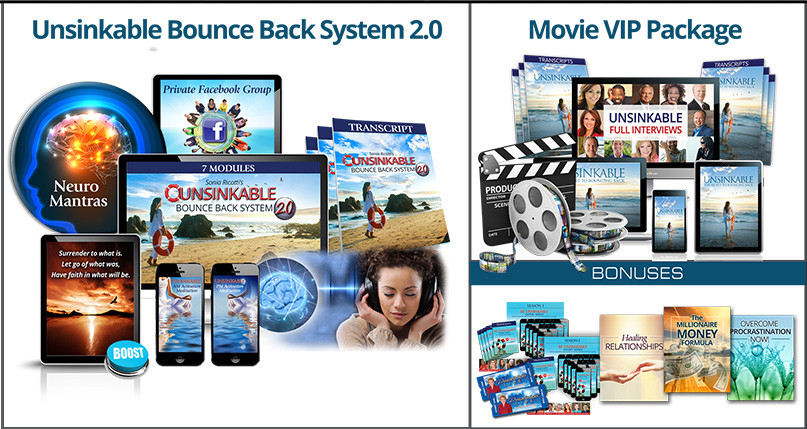 Unsinkable Bounce Back System 2.0 program by Sonia Ricotti_The 3-Step Formula to Bounce  Back Instantly (and Higher Than Ever)  When Life Knocks You Down by Sonia Ricotti