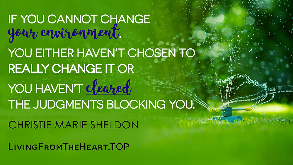 If You Cannot Change Your Environment, You Either Haven't Chosen To Really Change It Or You Haven't Cleared The Judgments Blocking You._Wisdom That Raises Your Vibrations & Inspires You to Allow More Abundance in Your Life by Christie Marie Sheldon_The Unlimited Abundance Home Training Program Review_The Love or Above Spiritual Toolkit Home Program Review