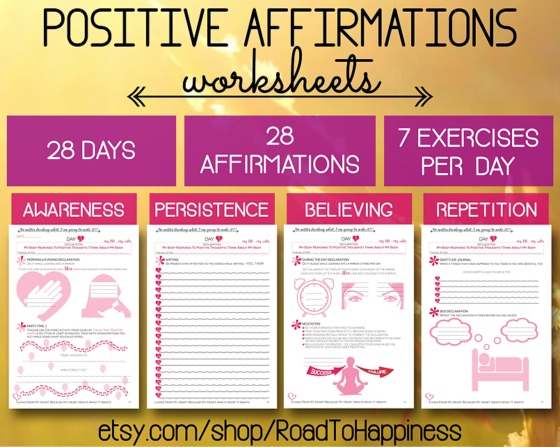 Daily Positive Affirmatons Workbooks Inspired by Louise Hay