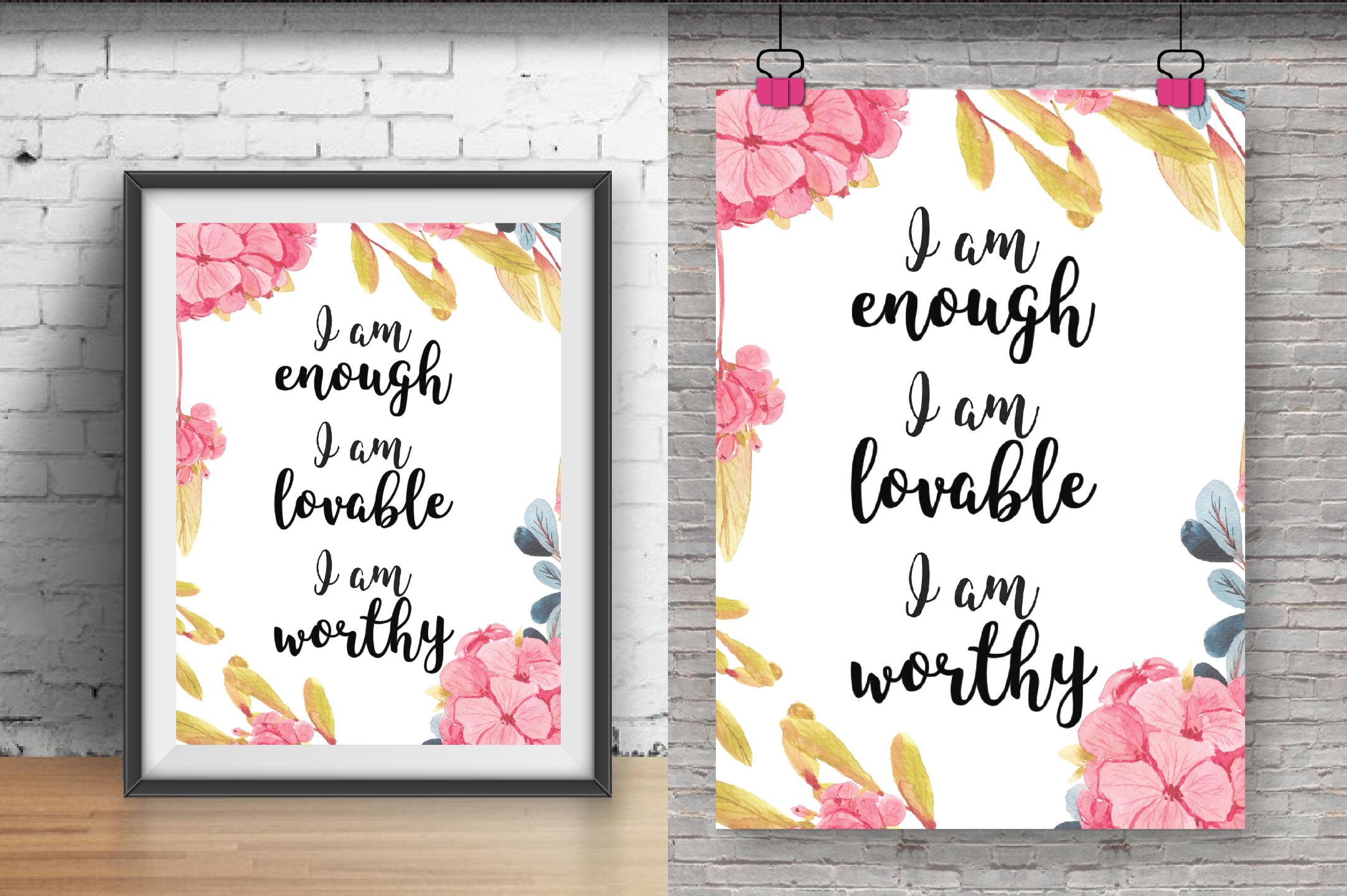I Am Enough I Am Lovable I Am Worthy