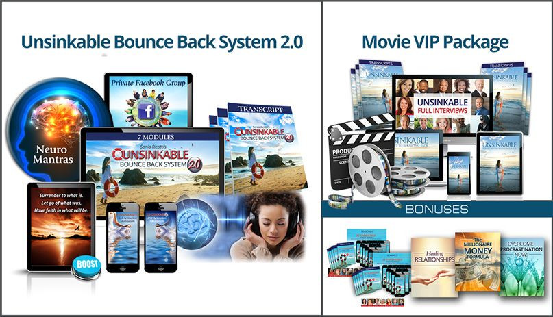 Unsinkable Bounce Back System 2.0 Exclusive VIP Edition - The 3-Step Process by Sonia Ricotti
