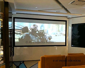 Home cinema theatre using projection blending and mapping by AV Projector room malaysia