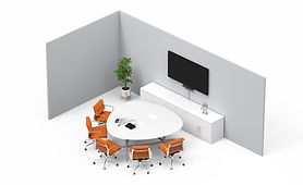 Video conference for small room by AV Projector room
