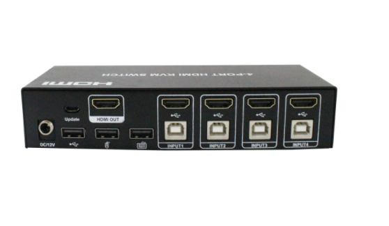 4-Port 4K HDMI KVM Switch / Switcher