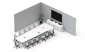 Video conference for medium to large meeting and conference room by AV Projector room