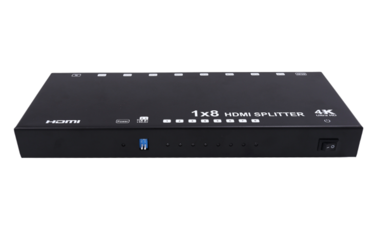 1x8 HDMI Splitter - Up to 4Kx2K@60Hz, Support EDID, HDCP