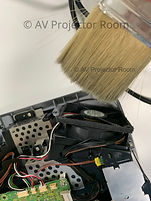 Projector internal engine cleaning for maintanence by AV Projector room malaysia